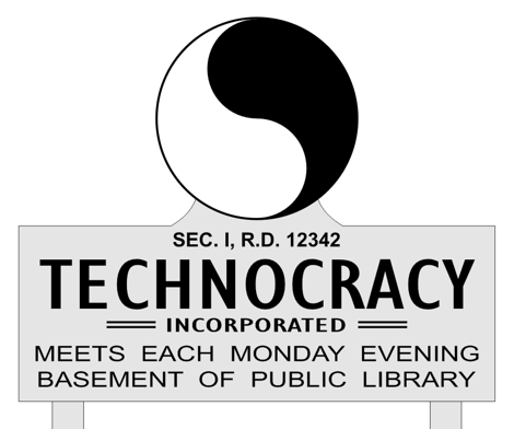 Reconstrucción del cartel de Tecnocracy Incorporated